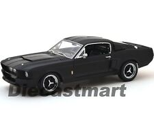 1967 FORD SHELBY MUSTANG GT 500 MATT BLACK W/BLACK STRIPES 1:18 GREENLIGHT 50844