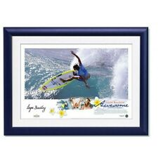 "LAYNE BEACHLEY HAND SIGNED AND FRAMED SURFING ""AWESOME"" LITHOGRAPH RIPCURL"