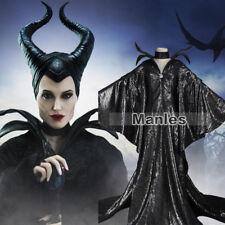 Maleficent Women Costume Halloween Cosplay Balck Fancy Dress Ball Masquerade