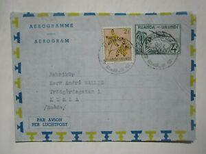1957 RUANDA-URUNDI AEROGRAMME AIR LETTER to SWEDEN