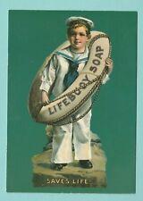 ADVERTISING  -  JOHN  HINDE  POSTCARD  -  LIFEBUOY  SOAP