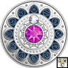 2017'Pisces-Zodiac Series' Crystalized Proof $3 Silver Coin .9999Fine(17995)(NT)