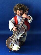 More details for vintage orig peter mecki hedgehog figuren handmade austria double bass red tag