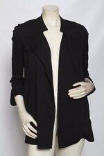 DIANE VON FURSTENBERG DVF Solid Black Knit Chefly Jacket - Size 4 / S