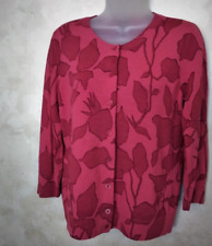 Talbots 1Xp Oversized Fun Red Pure Soft Merino Wool Cardigan Sweater VINTAGE M/L