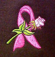 Breast Cancer L Sweatshirt Pink Ribbon Rose Brown Crew Neck Awareness New