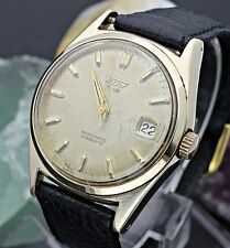 C. 1956 TISSOT T.12 By Omega Cal. 28.5R-621 Automatic 14K/SS Mens Dress Watch L8