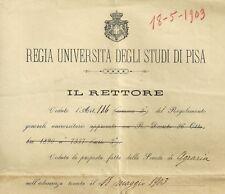 R. Università degli Studi di Pisa - Esami di Architettura Idraulica Rurale 1903