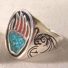 1 DELUXE BEAR CLAW NEW SILVER BIKER RING BR41R mens BEARS CLAWS fashion jewelry