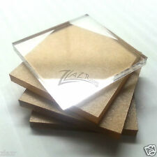 """25 1.5"""" x 1/8"""" Thick Clear Acrylic Square Geo Base Mineral Base Plastic Display"""