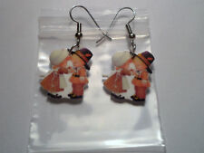 Pilgrims Earrings Boy and Girl Thanksgiving Charms