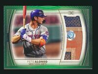 2021 Topps Definitive Game Used Jumbo Patch Relic Dirty Pete Alonso 07/15