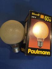 NEUF Paulmann Ampoule Globe G80 CRISTAL DE GLACE ambre jaune bronze E27 60W