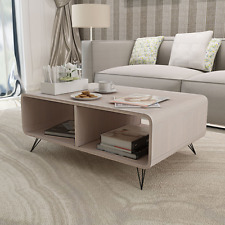 Grey Wood Coffee Table TV Stand Cabinet Home Storage Entertainment Center Shelf