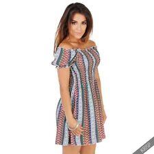 Summer Geometric 100% Cotton Dresses for Women
