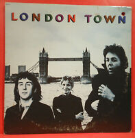 PAUL MCCARTNEY WINGS LONDON TOWN LP '78 ORIGINAL POSTER NICE CONDITION! VG/VG!!A