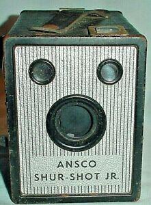BOX CAMERA ANSCO SHUR-SHOT Jr. 120 FILM VINTAGE /UNTESTED for PARTS or REPAIR