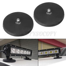 2x Car Boat LED Work Light Bar Magnet Base Mount Bracket Holder W/ Rubber Pad M8