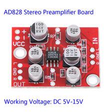 DC 5V-15V 12V AD828 stereo preamp power amplifier board preamplifier module L zo