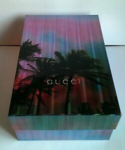 GUCCI Empty Neon Holographic Palm Trees Storage or Gift Box - Heavy Duty (Large)