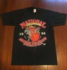 113e9ec943f Vtg Arkansas Razorbacks T Shirt 1994 National Champions Rare Black Small USA