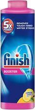 Finish Hard Water Detergent Booster Powder,Lemon Sparkle Scent 14 oz (Pack of 4)