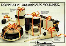 Publicité Advertising  078  1978   cafetière  yaourtière Moulinex (2 pages)