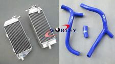 For Honda CRF450R CRF450 2009-2012 09 10 11 12 Aluminum radiator & hose blue