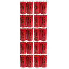 20 pcs D Size 10000mAh 1.2V Ni-MH Rechargeable Battery Cell Toy Red US Stock