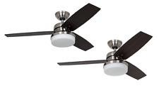"Ceiling fan light with wall control 122cm 48"" Hunter Galileo Brushed Chrome"