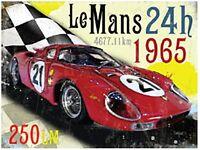 Plaque Métal 'Le Mans 1965 Ferrari' (og 2015)