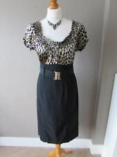 Animal Print Scoop Neck Wiggle, Pencil Dresses for Women