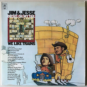 """Jim & Jesse: """"We Like Trains"""" & """"Diesel on My Tail"""" Double LP in gatefold cover"""