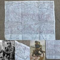 WWII Rare 29th Infantry Division D-Day Juvigny France Combat Map WW2 Relic