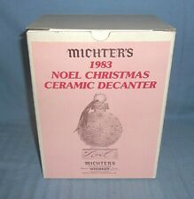 Michter's Decanter 1983 Noel Christmas Ceramic Decanter