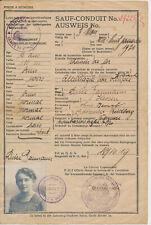 MAINZ  Post und Telegraphen  Verwaltung  Ausweis  France  Militär  1919  ( 338