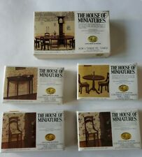 The House of Miniatures Dollhouse Hepplewhite 1 used/4 new and sealed X-Acto