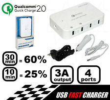 QC2-ACD4 Quick Charge 2.0 4Port Charger 3 Amp max 5V DC USB Output Power Supply
