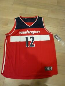 NWT Fanatics Washington Wizards #12 Kelly Oubre Jr. Red Screen Print Jersey 2XL