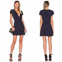 Tularosa Yvonne Wrap Dress in Deep Indigo Blue M NWT