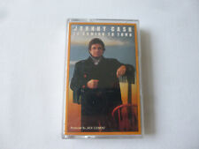 JOHNNY CASH ~ IS COMING TO TOWN ~ 1987 UK COUNTRY CASSETTE TAPE ~ PAPER LABELS