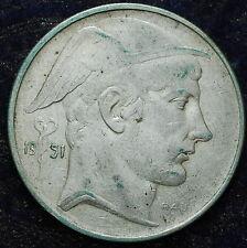 1951   Belgio Belgique Belgie    20   franc   francs   silver