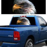 3D American Flag Eagle Graphic Tint Decal Rear Window Sticker For Truck Jeep SUV