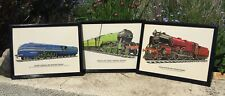 More details for railway enthusiast locomotive pictures flying scotsman joblot 3 rail engines