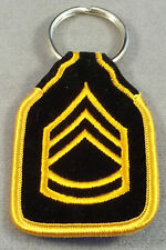 US Army Sergeant First Class E-7 Rank Embroidered Keychain
