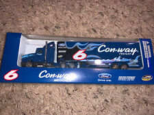 Conway Ford Roush Fenway Racing Truck Trailer 1/87 Die Cast New In Box