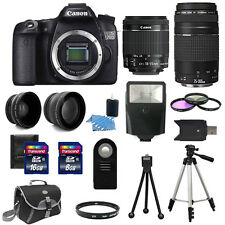 Canon EOS 70D SLR Camera + 4 Lens Kit 18-55 IS + 75-300mm + 24GB TOP VALUE KIT!
