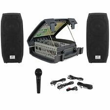 Peavey Messenger Portable 100w Collapsable PA System w/Speakers, Mic/Mixer/Case