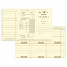 "Pocket Size Weekly Time Cards (250 pk) Size: 8"" x 5"""