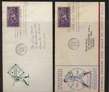 Us 2 Baseball cachet covers 1939 Kel0207
